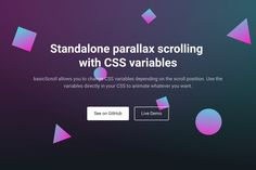 Standalone parallax scrolling  with CSS variables