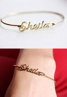 Custom Name Bracelets ♥ (would never get my own name, but what are the chances that Sheila shows up?!)