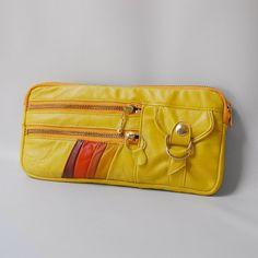 7 pocket Vigga clutch in lemon by valhallabrooklyn on Etsy, $99.00
