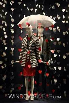 valentine's day retail window display