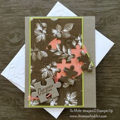 May I begin by saying, I LOVE jigsaw puzzles! My grandmother always had a card table set up with an ongoing jigsaw puzzle. We would sit for hours putting these puzzles together. It was so exciting to see this bundle in the new Stampin' Up! catalog. Imagine all of the pretty pictures you could die …