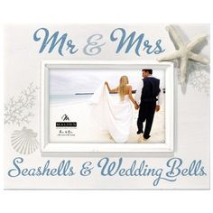 Mr and Mrs. Seashells Picture Frame