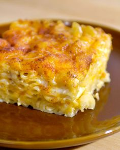 """Layered Mac and Cheese""   When musician John Legend visited Martha Stewart, he shared his recipe for this favorite Southern comfort food, with generous helpings of both Monterey Jack and cheddar cheeses; evaporated milk creates a creamy texture under the golden-brown surface."