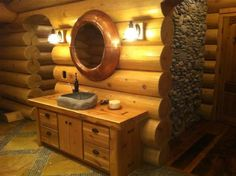 log cabin bathrooms | master bathroom vanity master bath with boulder tub bedroom 3