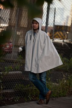 Cleverhood corduroy rain cape for livable cities. Bike-ready and made in the US.