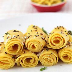 Khandvi - Soft and Mild Sour Gram Flour Rolls. Healthy n delicious