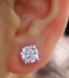 4 00 Ct Round Cut Diamond Earrings Stud Solid 18k White Gold Valentine S 84jhn