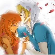 finn y la princesa flama versión anime
