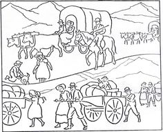 Lds pioneer day on pinterest pioneer crafts covered for Lds pioneer coloring pages
