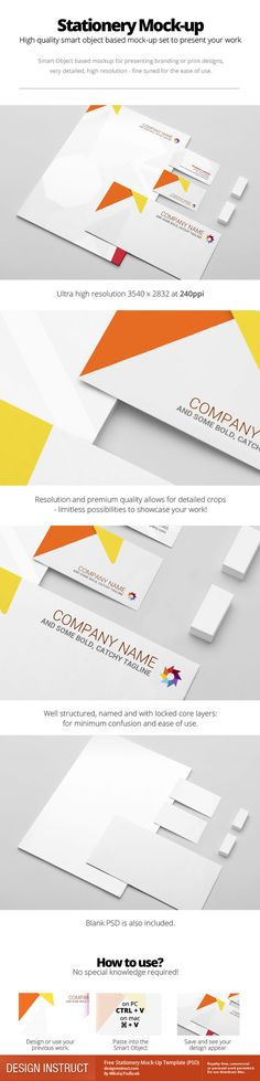 Free Stationery Mock-Up Template (PSD) - Design Instruct