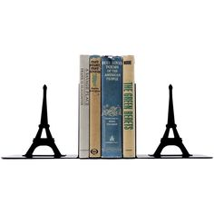Dot & Bo Tour Eiffel Bookends (16.440 HUF) ❤ liked on Polyvore featuring home, home decor, small item storage, steel bookends, book-end, eiffel tower home decor and book ends