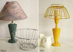 Ahorrar en decoración. Customizar una lámpara, de antigua a vintage