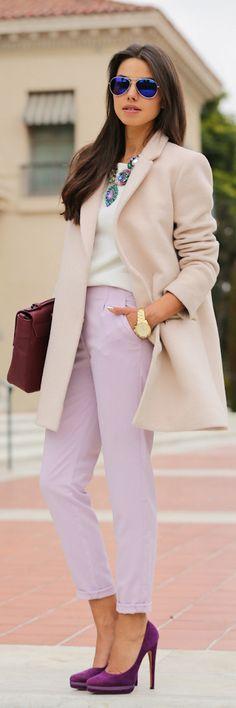 linen & african violet #pantone #spring13