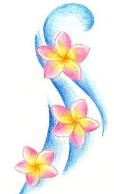 Plumerias tattoo design                                                                                                                                                                                 More