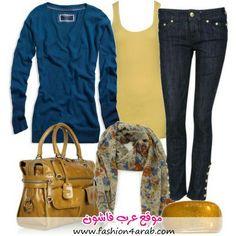 Azul amarillo y estampados