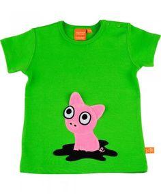 Lipfish leaf green pig t-shirt