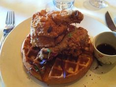 Fried Chicken & Waffles at Table Fifty-Two