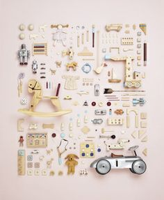 tiny toys meticulously arranged // image by Todd McLellan