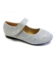 Look at this Lucita Silver Sparkle Mary Jane on #zulily today!