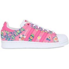 super popular b5f02 6fd7c Adidas Originals By Farm Women Superstar Foundation Jardinetto Sneakers
