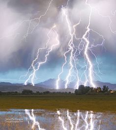 Longs Peak Lightning, Colorado Rocky Mountains in Boulder County.