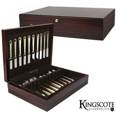 Kingscote Silversmiths - Mahogany Brunswick Chest - 130 Capacity