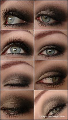 Taupe Gold Makeup aka Soft Smokey Eyes // http://www.magi-mania.de/furs-bewerbungsfoto/