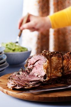 Lamb Roast Filled with Herbs and Cream Cheese
