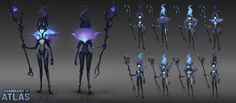 ArtStation - Celesta Concept art for Guardians of Atlas, Wu Liu