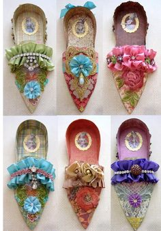 Paper shoes...more Xmas tree or Halloween tree ornaments.