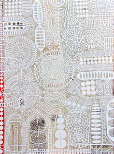 """Eva Cockova ... """"Agreement"""" ... Her inspirations: """"Many of my paintings reflect my interest in the spirituality of the organic mechanics of nature.  They are a calligraphic expression of the relationships of the worlds of DNA, star orbits, circuit boards, movements of subatomic particles, flow of hormones, patterns of language, layers of history."""""""
