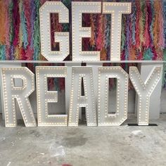GET READY - Doris Loves battery-powered, light-up letters for weddings and events!