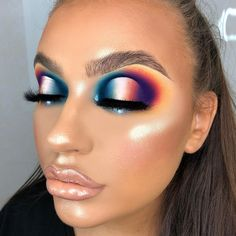 🤩 x carnival saint and sinners palette pearl pigment TLMITCHELL Luna eyeshadow topper 300 pro filter foundation concealer shade 3 dark deepest coco cabana blusher x SUB ZERO PALETTE 😎🤩 the lip trio holla lip gloss Glam Makeup, Blusher Makeup, Makeup On Fleek, Pretty Makeup, Makeup Inspo, Makeup Art, Makeup Inspiration, Makeup Ideas, Face Makeup