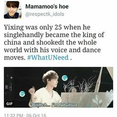 Yixing | that's gonna be in a history book one day