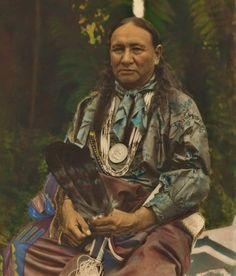 Wanoshe Zhinga (aka Little Soldier, aka Little Eagle That Gets What He Wants, aka Fred Lookout), the husband of Mosechehe (aka Sacred Arrow Shaft, aka Julia Mongrain Pryor-Lookout) - Osage - 1928--
