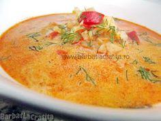 Ciorba de varza cu smantana Romanian Food, Romanian Recipes, Dinner This Week, Thai Red Curry, Cantaloupe, Ethnic Recipes, Dinner Ideas, Soups, Diet