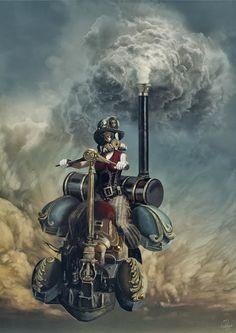 - Steam by Jacek Rudowski - #Steampunk #Steampunkart #artwork #Steam http://www.pinterest.com/TheHitman14/art-steampunk-%2B/