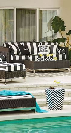 The cool, contemporary look of our Metropolitan Panther Seating Collection is an enduring choice for relaxing outdoors. Outdoor Rooms, Outdoor Sofa, Outdoor Furniture Sets, Outdoor Ideas, Backyard Ideas, Outdoor Living, Black Decor, White Decor, White Rooms