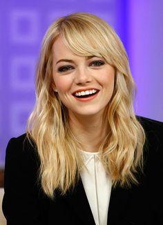 Emma Stone perfect bangs