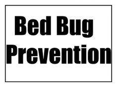 Bed Bug Prevention