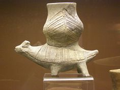 Zoomorphic vessel, New Stone Age, Linear Pottery culture, Želiezovce group Types Of Ceramics, Ancient Near East, Archaeological Finds, Stone Age, Ceramic Decor, Ancient Artifacts, Ancient Civilizations, Art Object, Archaeology