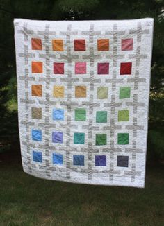 Looking for quilting project inspiration? Check out Positive Space Quilt by member howtobejenna. - via @Craftsy