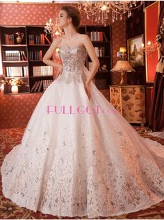 Tulle Ball Gown Wedding Dress F