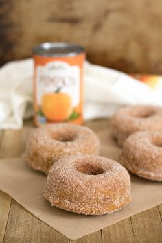 The Easiest Small Batch Pumpkin Donuts (YIELD 4) - Lifestyle of a Foodie Healthy Pumpkin Bread, Cooking Pumpkin, Baked Pumpkin, Pumpkin Spice Donut Recipe, Pumpkin Recipes, Donut Calories, Small Batch Baking, Healthy Donuts, Cinnamon Sugar Donuts