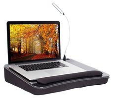 Sofia + Sam Lap Desk with USB Light | Memory Foam Cushion | Large Surface Area for Crafts, Reading and Laptops | Supports Laptops up to 17 inches Sofia & Sam http://www.amazon.com/dp/B0153QT7OK/ref=cm_sw_r_pi_dp_Dkrywb09VZ7JD