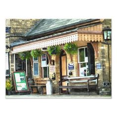 The pretty and quaint Hampton Loade train station of the Severn Valley railway. England UK.