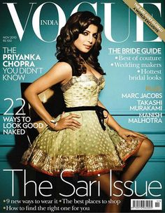 Priyanka Chopra on the cover of Vogue India in Louis Vuitton
