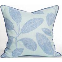 Biscayne Collection - Komodo Leaves Aqua Pillow