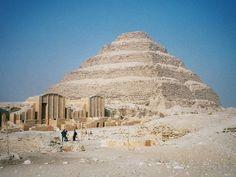 'Pirâmide de Djoser'. Saqqara. # Mênfis, Egito.