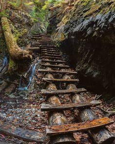 Slovak Paradise (Slovak: Slovenský raj) is a mountain range in eastern Slovakia. Big Country, Mountain Range, Stairways, The Good Place, City Photo, Paradise, Mountains, Amazing, Places